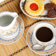 Cup of coffee with cakes - Stock Photo