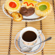 Cup of coffee with cakes — Stock Photo #9440043