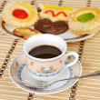 Cup of coffee with cakes — Stock Photo #9440047