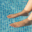 Stock Photo: Feet refreshing