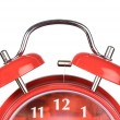 Classic red clock — Stock Photo #9440264