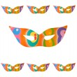 Many mask of carnival isolated - Stock Photo