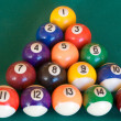 Billiard-table with fifteen balls - Foto de Stock  