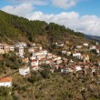 Stok fotoğraf: Small town on hill