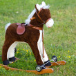 Small wooden toy horse - Stock Photo