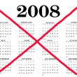 Calendar year ended 2008 - Stock Photo