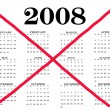 Calendar year ended 2008 — Stock Photo #9440831