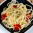Freshly cooked plate of spaghetti - Stock Photo