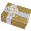 Beautiful golden gift — Stock Photo