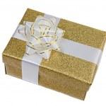 Beautiful golden gift — Stock Photo