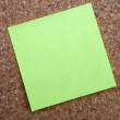 Yellow post-it note — Stock Photo