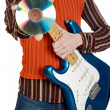 Musical young person — Stock Photo