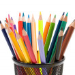 Many pencils of different colors — Foto Stock