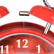 Classic red clock — Stock Photo