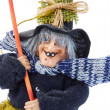 Old Halloween witch isolated - Stock Photo