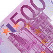 One bill of five hundred euros — Stock Photo