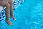 Feet refreshing — Stock Photo
