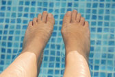 Feet refreshing — Stock Photo