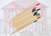 Pencils of colors — Stock Photo