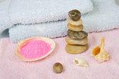 在平衡中的石头 — 图库照片