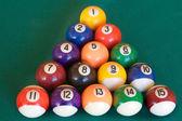 Mesa de billar con quince bolas — Foto de Stock