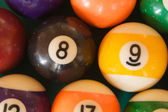 Billiard balls photographed from above — ストック写真