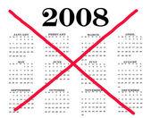 Kalenderjaar 2008 eindigde — Stockfoto
