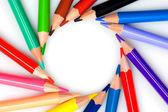 Many pencils forming a circle — Stock Photo