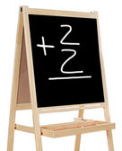Learning to add numbers — Stock Photo