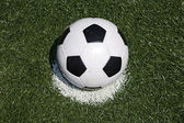 Soccer ball on the penalty point — Stock Photo