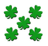 Illustration of five four-leaf clover — Stock Photo