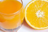 Glass of orange juice — Stock Photo