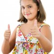 Girl saying ok — Stock Photo #9497134