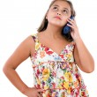 Adorable girl speaking by phone — Stock Photo #9497143