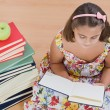 Adorable girl reading — Stock Photo #9497191