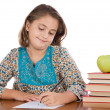 Adorable girl studying — Stock Photo #9497214