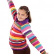 Playful girl outstretched — Stock Photo