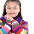 Adorable girl with woollen jacket — Stock Photo #9497281