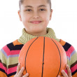 Adorable girl with basketball — Stock Photo #9497576