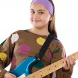 Girl fashion whit electric guitar — Stock Photo #9497625