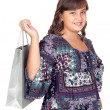 Stock Photo: Adorable preteen girl shopping