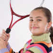 Girl with racket of tennis — Stock Photo #9497710