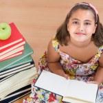 Adorable girl reading — Stock Photo #9497722