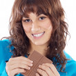 Girl with chocolate — Stock Photo #9498881