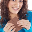 Girl with chocolate — Stock Photo #9498882