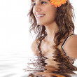Young woman in water — Stock Photo #9498921
