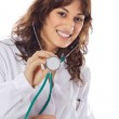 Girl doctor with stethoscope — Stock Photo #9498942