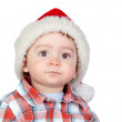 Beautiful baby with Christmas hat — Stock Photo