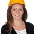 Young engineer with and security helmet — Stock Photo