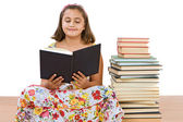 Adorable girl reading — Stock Photo